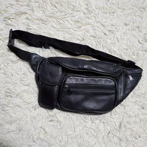 Handbags - Vintage Faux Leather 5 Pocket Fanny Pack